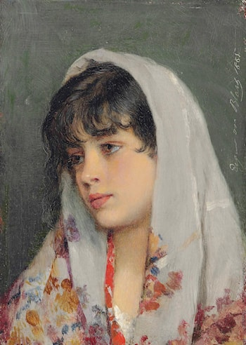 A Venetian Beauty by Eugene de Blaas