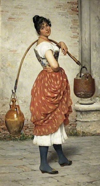 A Venetian Water-Carrier by Eugene de Blaas