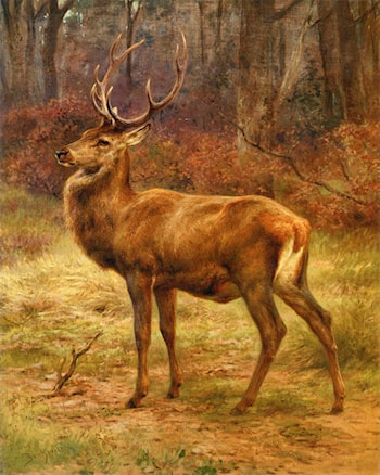 Stag in an Autumn Landscape by Rosa Bonheur