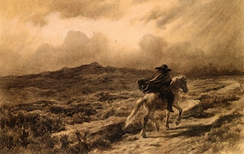 Horse and Rider on the Scottish Highlands (The Approaching Storm) by Rosa Bonheur