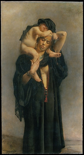 An Egyptian Peasant Woman and Her Child by Leon Bonnat