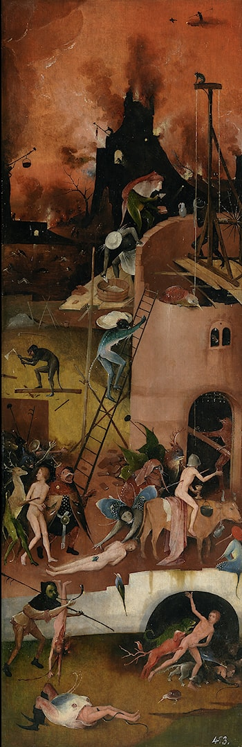 Haywain, right wing of the triptych by Hieronymus Bosch