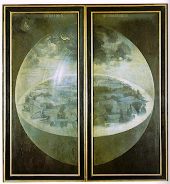 Garden of Earthly Delights, outer wings of the triptych by Hieronymus Bosch
