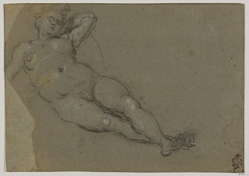 Reclining Female Nude by Domenico Tintoretto