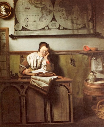Doing the Accounts by Nicolaes Maes