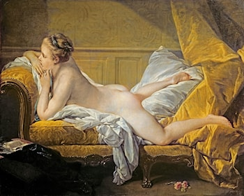 Nude on a Sofa by Francois Boucher