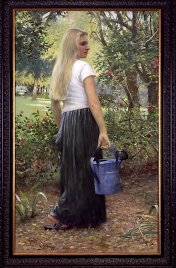 Watering Girl by Allan R. Banks