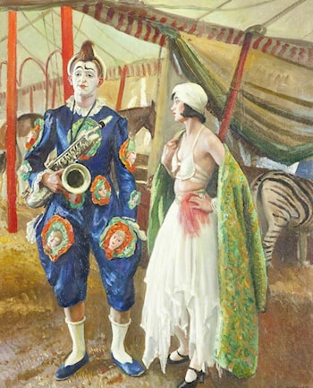 A Musical Clown by Laura Knight