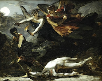 "Study for ""Justice and Divine Vengeance Pursuing Crime"" by Pierre-Paul Prud'hon"