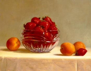 Strawberries and Apricots by Patricia Watwood