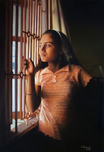 The Lonesome Girl by the Window by Anand PKC