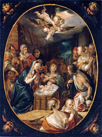 Adoration of the Shepherds by Hans von Aachen