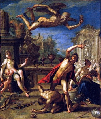 Allegory of Rulership - The Return of the Golden Age under Saturn by Hans von Aachen