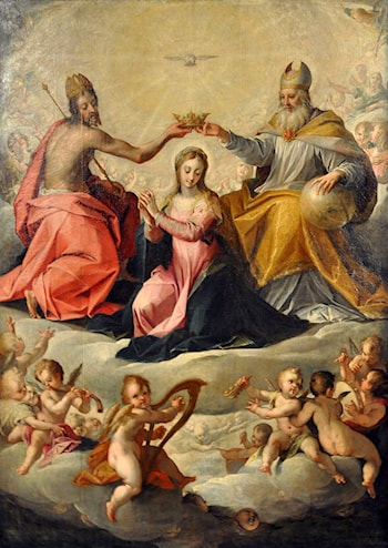 Coronation of the Virgin by Hans von Aachen