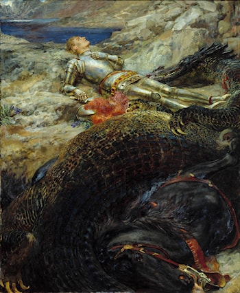 Saint George and the Dragon by Briton Riviere