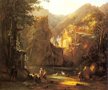 Classical Landscape by Jean Victor Bertin