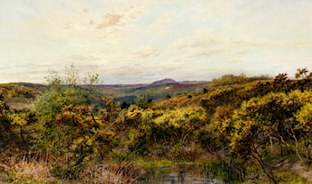 View Of Crooksbury Hill, Surrey by William Henry Millais