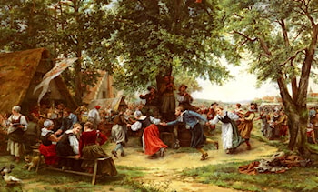The Village Festival by Jean Charles Meissonier