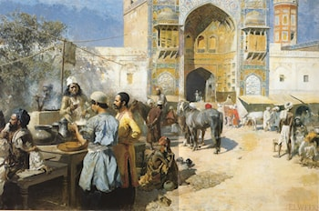 An Open­Air Restaurant, Lahore by Edwin Lord Weeks