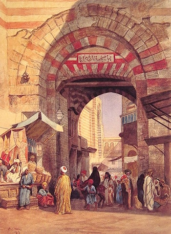 The Moorish Bazaar by Edwin Lord Weeks