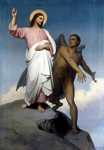 The Temptation of Christ by Ary Scheffer