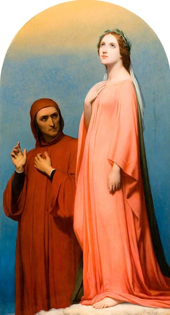 The Vision, Dante and Beatrice by Ary Scheffer