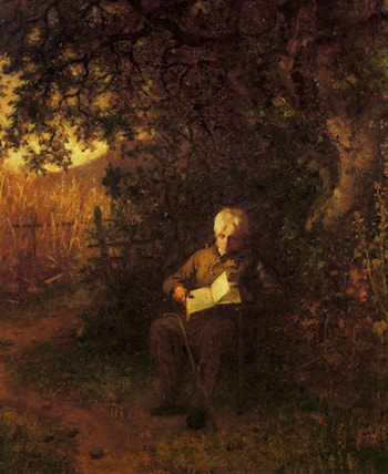 A Quiet Hour by Eastman Johnson