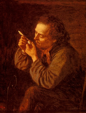 Lighting His Pipe by Eastman Johnson
