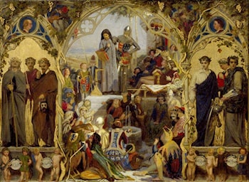 The Seeds and Fruit of English Poetry by Ford Madox Brown