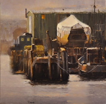 After Rain, November, Gloucester Harbor by Faripour Forouhar