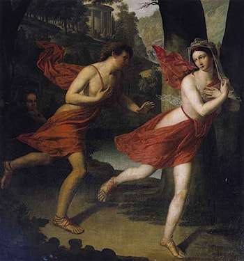 Pauline as Daphne Fleeing from Apollo by Robert Lefevre