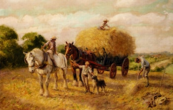 The Haymakers by Rowland Wheelwright, R.B.A