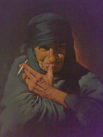 An Elderly Woman from Southern Iraq by Ali Ghassan Al-Zobaede