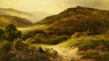 A Sandy Road Near Grundleford Bridge Derbyshire by George Turner