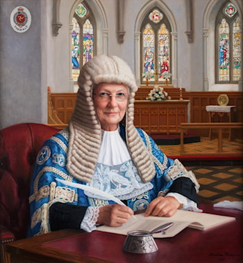 Clare Christian, President of Isle of Man Parliament by Svetlana Cameron