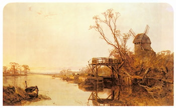 Fishing By A Windmill by Charles Branwhite