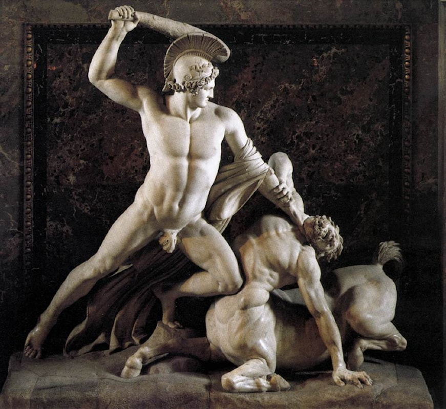 the story of theseus the mythical founder king of athens Theseus slaying minotaur(1843), bronze sculpture by antoine-louis barye theseus was the mythical founder-king of athens and was the son of aethra by two fathers: aegeus and poseidon.