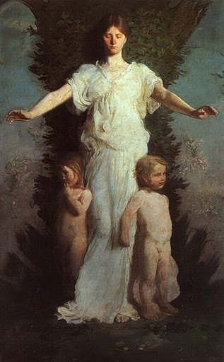 Caritas by Abbott Handerson Thayer