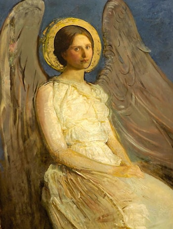 Seated Angel by Abbott Handerson Thayer