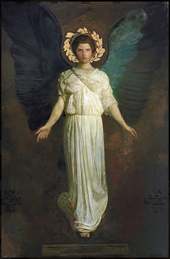A Winged Figure by Abbott Handerson Thayer