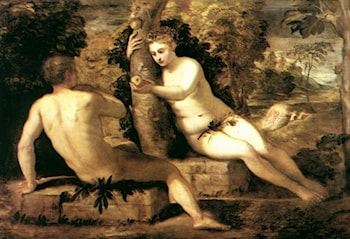 Adam and Eve by Jacopo Robusti Tintoretto
