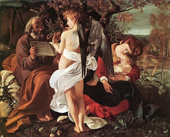 Rest on Flight to Egypt by Caravaggio