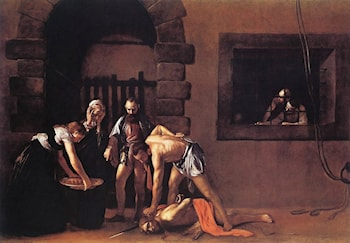 Beheading of Saint John the Baptist by Caravaggio
