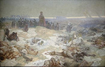 The Slav Epic: No. 10: After the Battle of Grunewald by Alphonse Maria Mucha