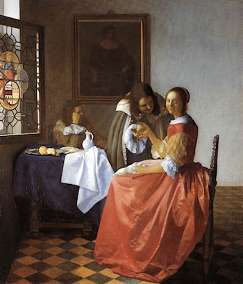 A Lady and Two Gentlemen by Johannes Vermeer