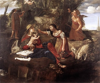 Rest on the Flight into Egypt by Angelo Caroselli
