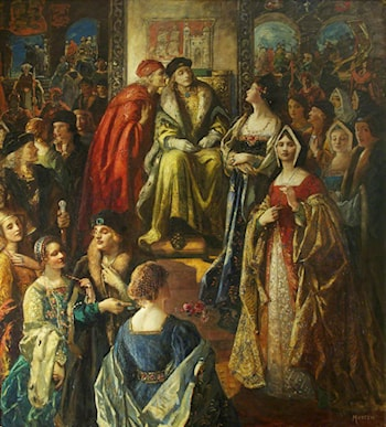 King Henry VII Fining the Citizens of Bristol Because Their Wives Were So Finely Dressed, 1490 by Thomas E. Mostyn
