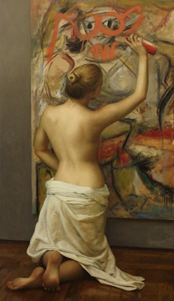 Nude with Glasses and Goatee by Cesar Santos