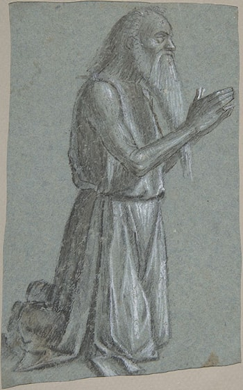 Saint Jerome (recto); Soldier with a Spear (verso) by Vittore Carpaccio