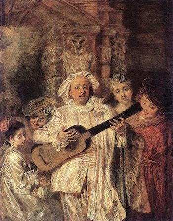 Gilles and his Family by Jean-Antoine Watteau